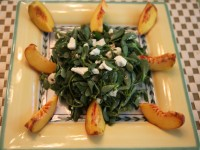 Peach Purslane Salad